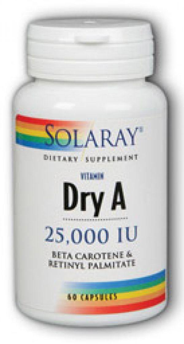 Solaray Emulsified Dry Vitamin A 25,0000IU 60 Caps