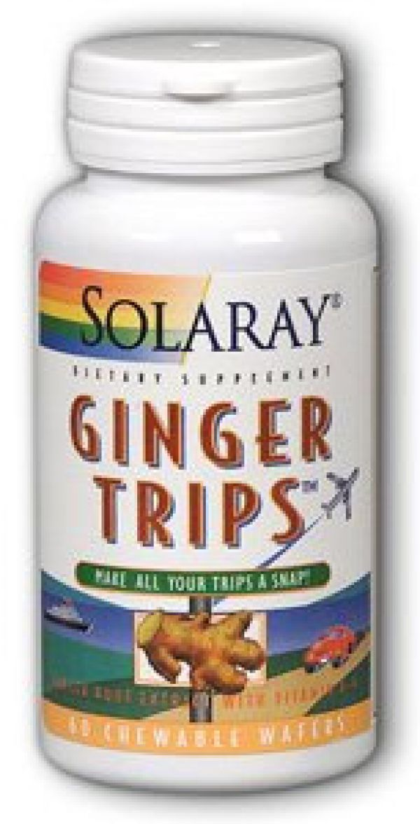 Solaray Ginger Trips 67mg 60 Chewable Wafers