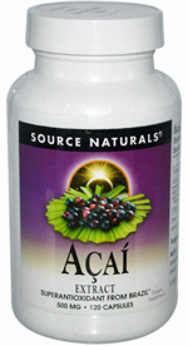 Source Naturals Acai Extract 500mg 60 Caps