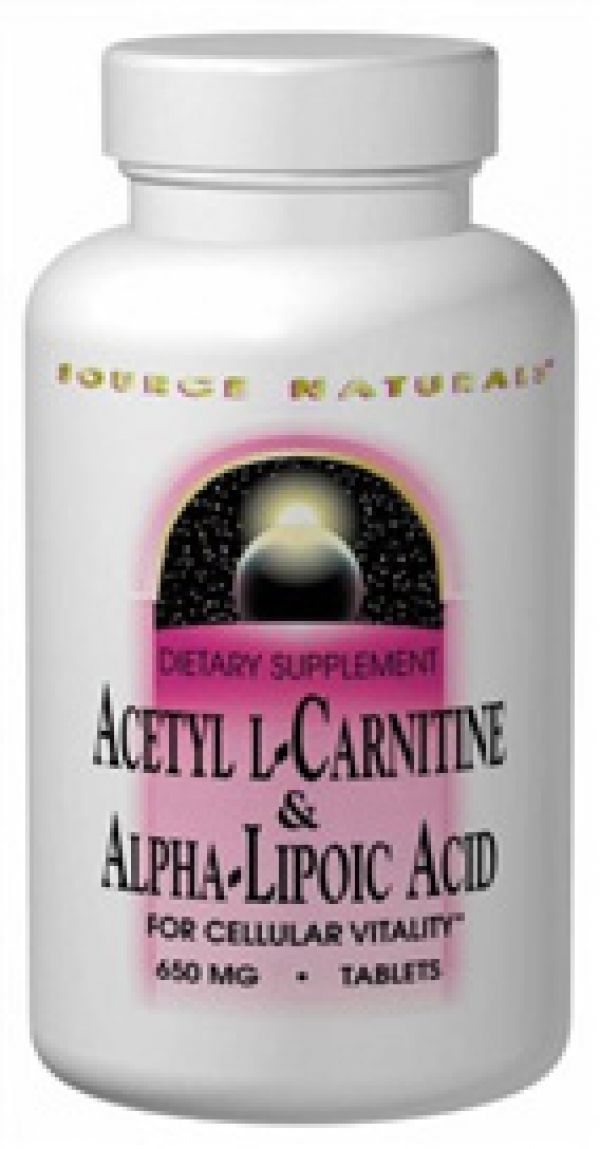 Source Naturals Acetyl L-Carnitine and Alpha Lipoic Acid 650mg 30 Tabs