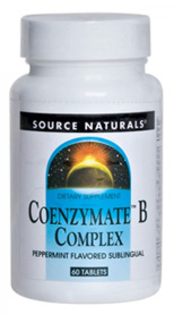 Source Naturals Coenzymate B-Complex Sublingual Peppermint 60 Tablets