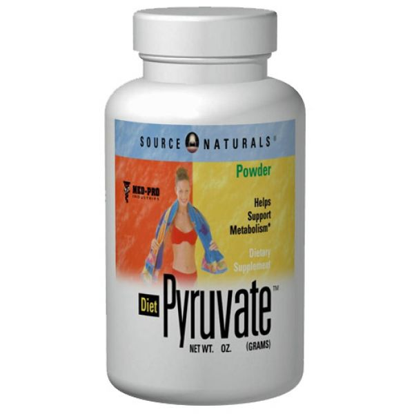 Source Naturals Diet Pyruvate 500mg 120 Caps
