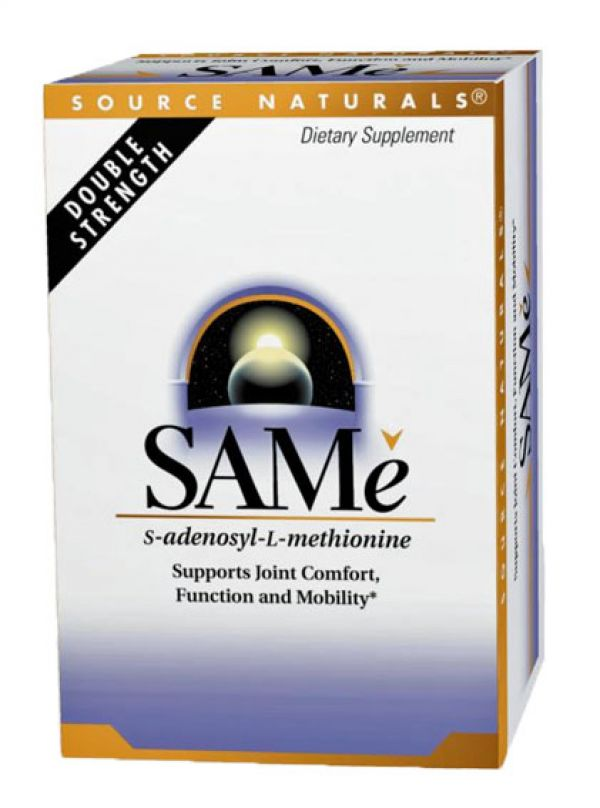 Source Naturals SAM-E (Adenosyl-L-Methionine) 200mg 60 Tablets