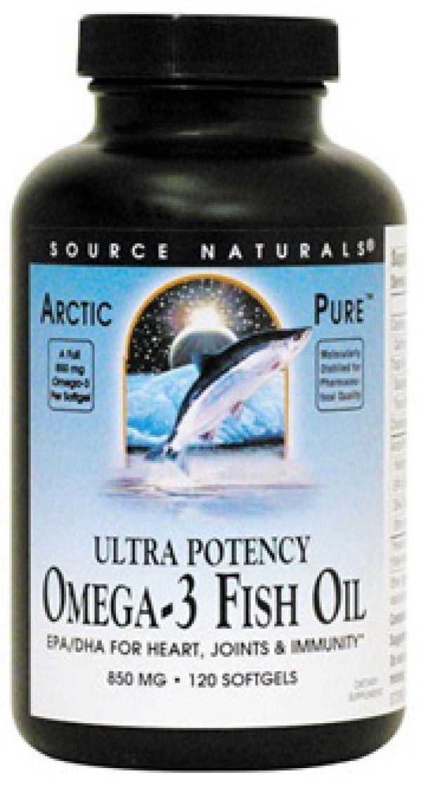 Source Naturals Ultra Potency Omega-3 Fish Oil 850mg 60 Gels