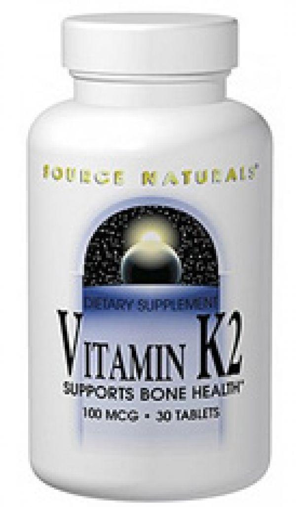 Source Naturals Vitamin K2 100mcg 30 Tabs