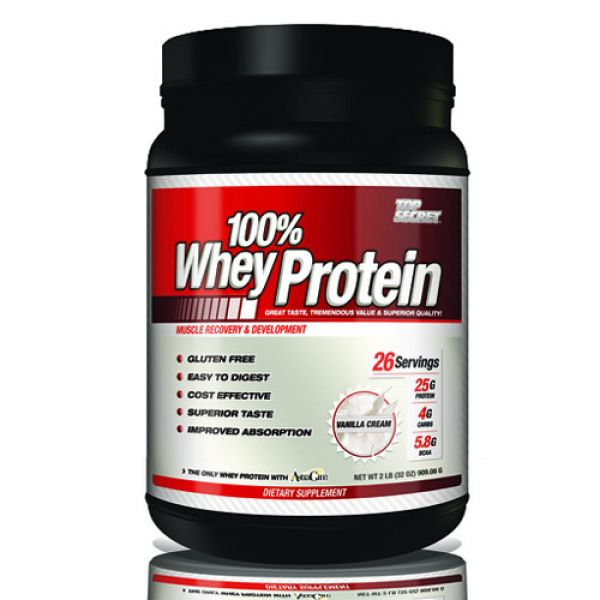 Top Secret Nutrition 100% Whey Protein 2 lb (32 oz