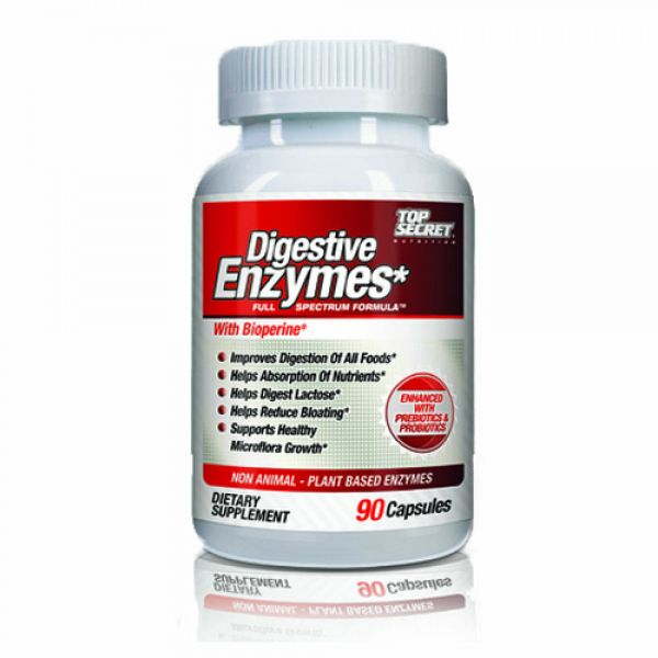 Top Secret Nutrition Digestive Enzymes 90 Caps