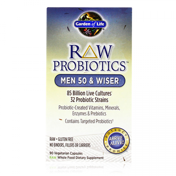 Garden Of Life Raw Probiotics Men 50 And Wiser Free Shipping
