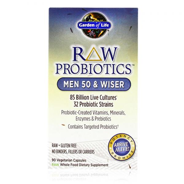Garden of life raw probiotics men 50 and wiser free shipping - Garden of life raw probiotics men ...