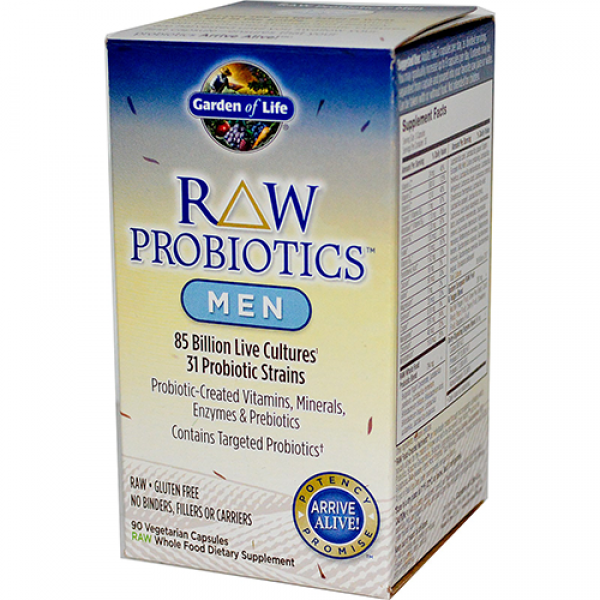 Garden of life raw probiotics men 90 vege caps for Garden of life raw probiotics review