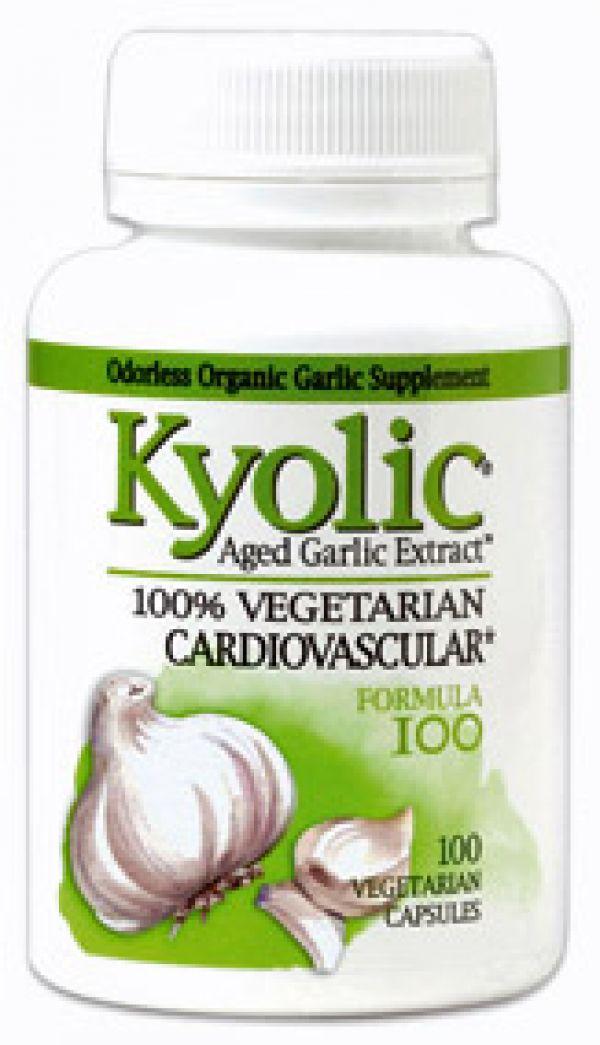 Wakunaga Kyolic Formula 100 Cardiovascular Formula (Yeast Free) 100 Vege Caps